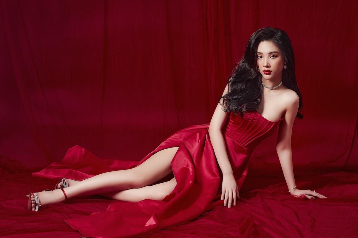 Hoa hậu mỹ huyền khoe vòng một nóng bỏng trong bộ ảnh mới - 4