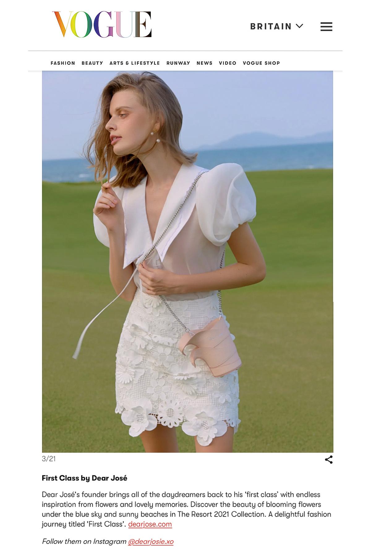 Sưu tập của nhà thiết kế 9X Việt lên tạp chí Vogue Anh