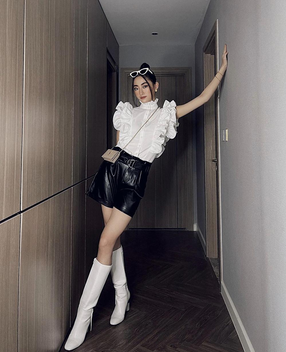 Lương Thuỳ Linh mặc đa phong cách khi ở nhà